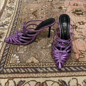 Zara Purple Pointed Toe Shoes